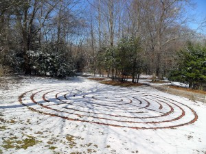 Peace Labyrinth - Sun, Shadows and Snow